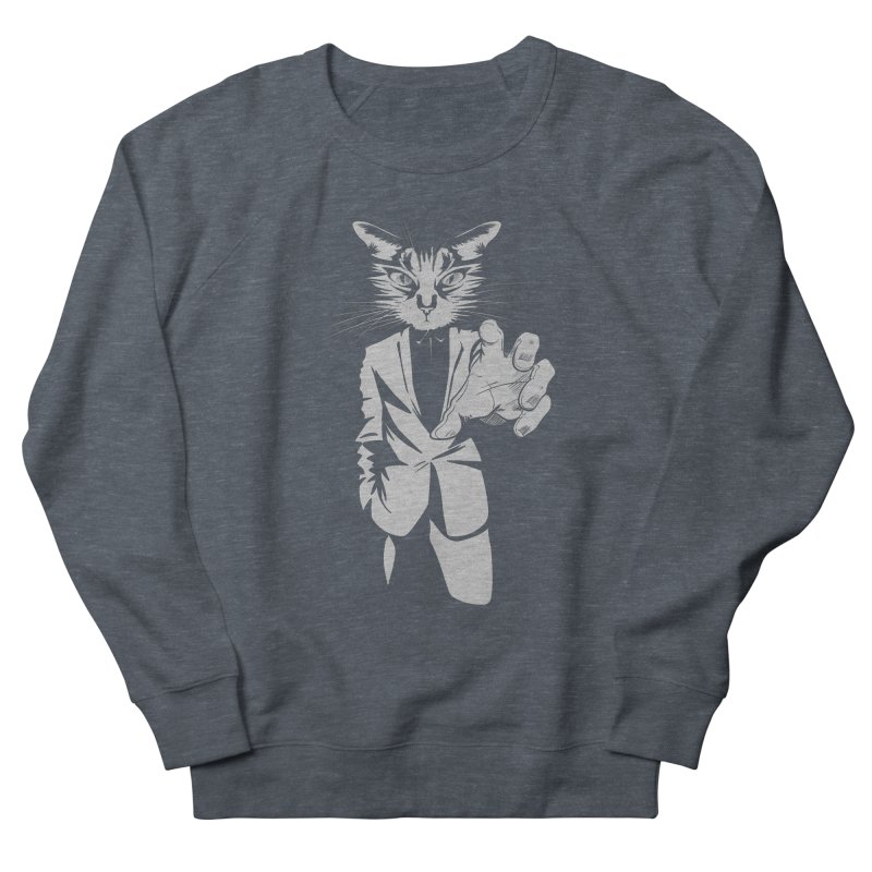The Cat Women's French Terry Sweatshirt by AlePresser's Artist Shop