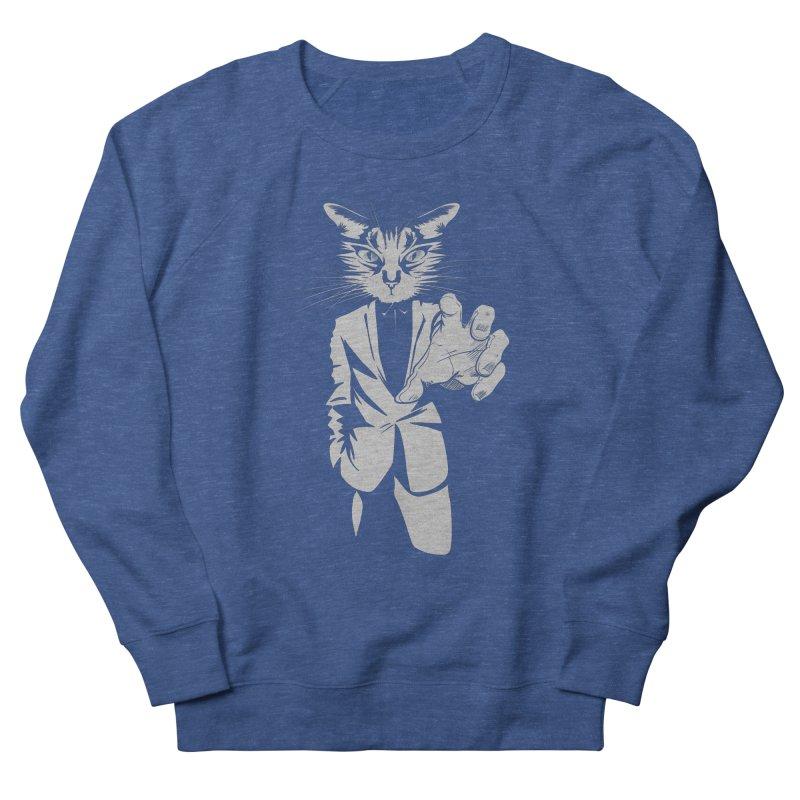 The Cat Men's French Terry Sweatshirt by AlePresser's Artist Shop