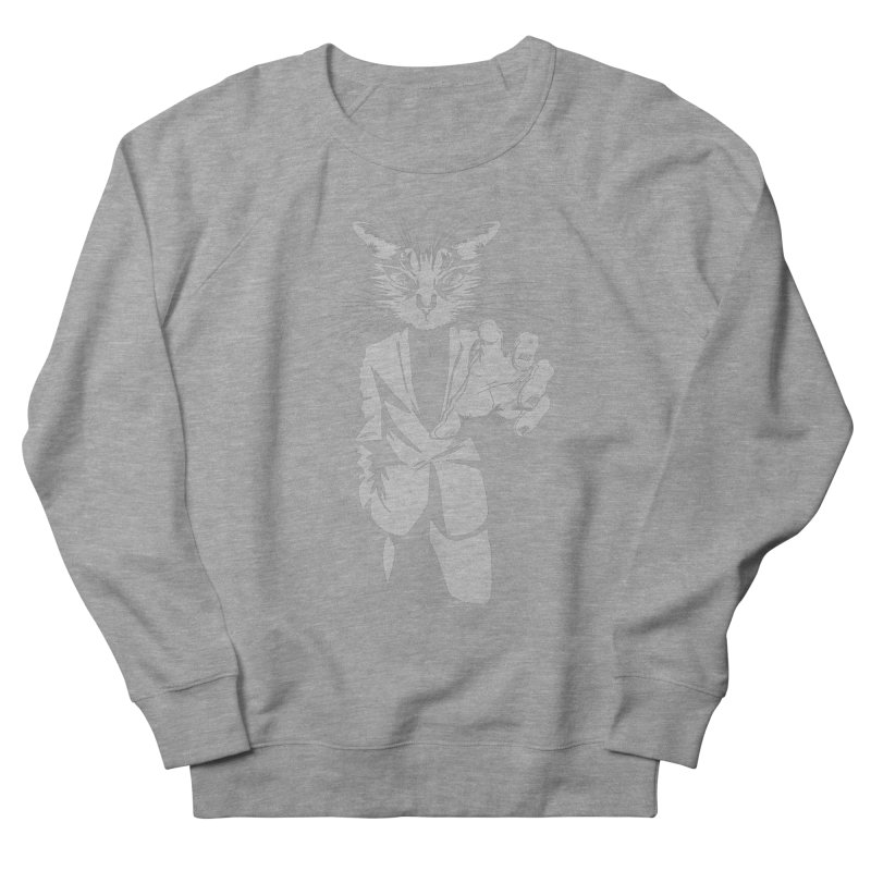 The Cat Men's French Terry Sweatshirt by AlePresser's Artist Shop