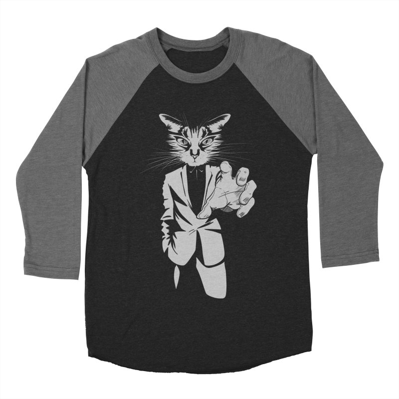 The Cat Men's Baseball Triblend Longsleeve T-Shirt by AlePresser's Artist Shop