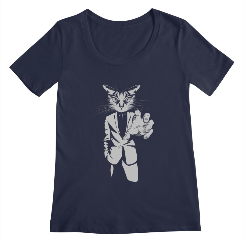 The Cat Women's Regular Scoop Neck by AlePresser's Artist Shop