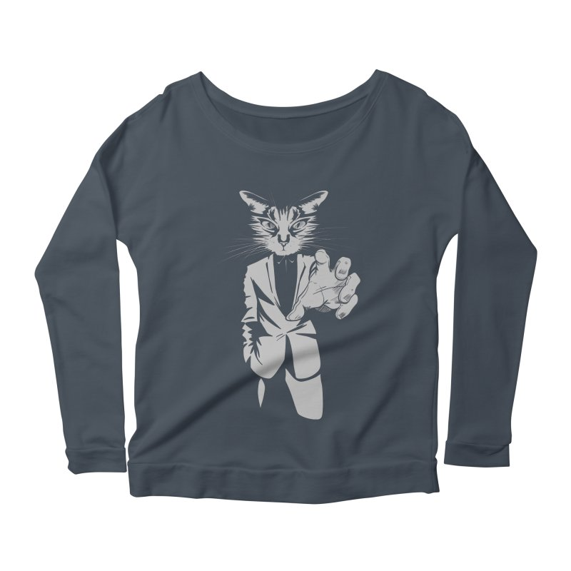 The Cat Women's Longsleeve Scoopneck  by AlePresser's Artist Shop