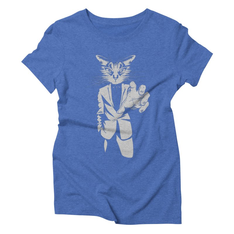 The Cat Women's Triblend T-Shirt by AlePresser's Artist Shop