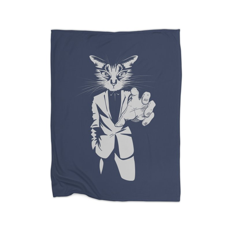 The Cat Home Blanket by AlePresser's Artist Shop