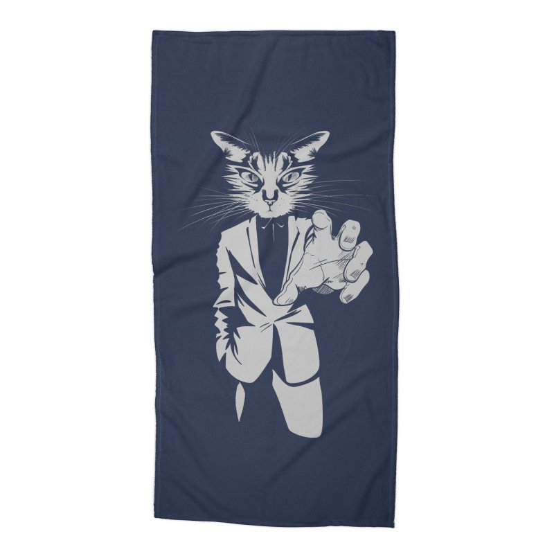 The Cat Accessories Beach Towel by AlePresser's Artist Shop