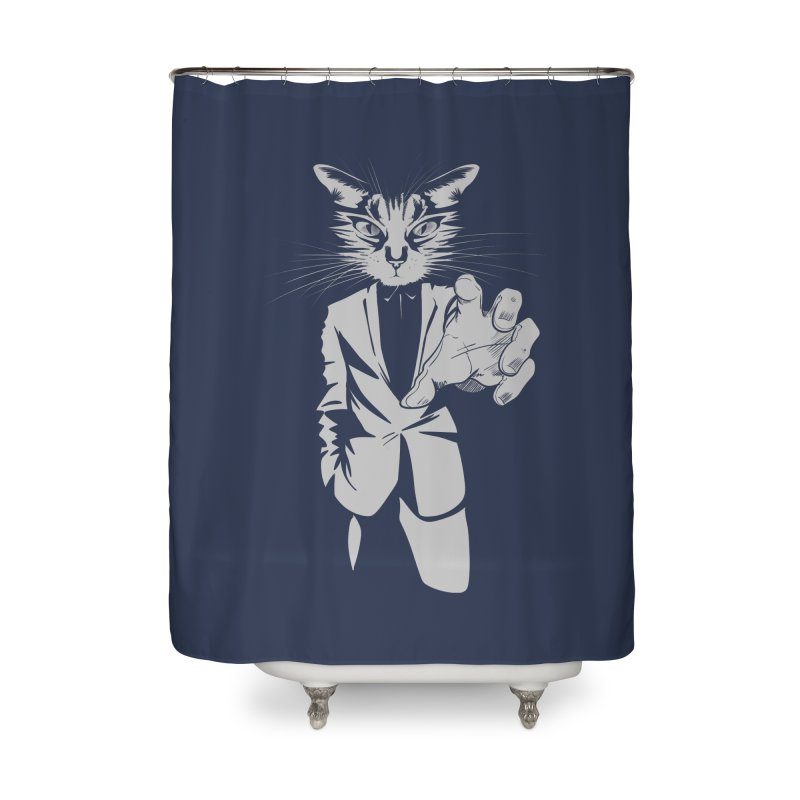 The Cat Home Shower Curtain by AlePresser's Artist Shop