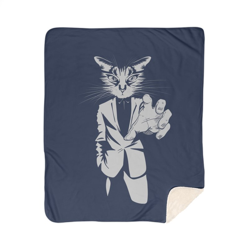 The Cat Home Sherpa Blanket Blanket by AlePresser's Artist Shop