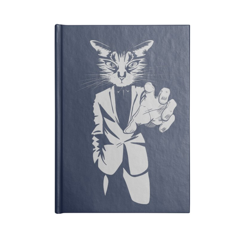 The Cat Accessories Lined Journal Notebook by AlePresser's Artist Shop