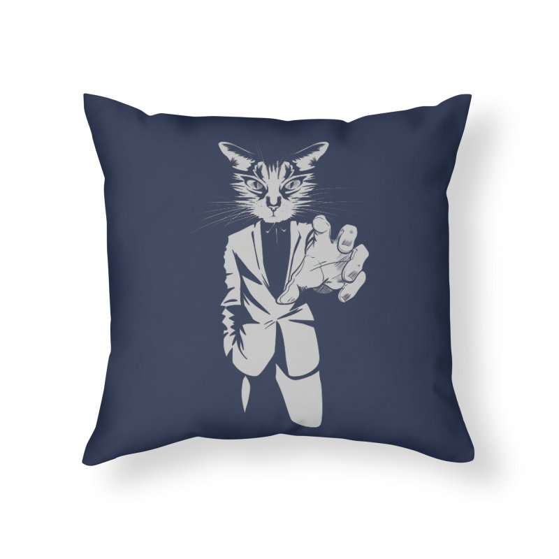 The Cat Home Throw Pillow by AlePresser's Artist Shop
