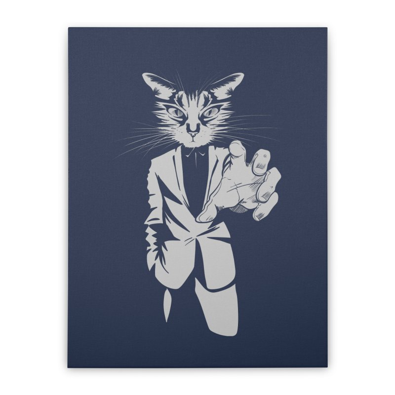 The Cat Home Stretched Canvas by AlePresser's Artist Shop