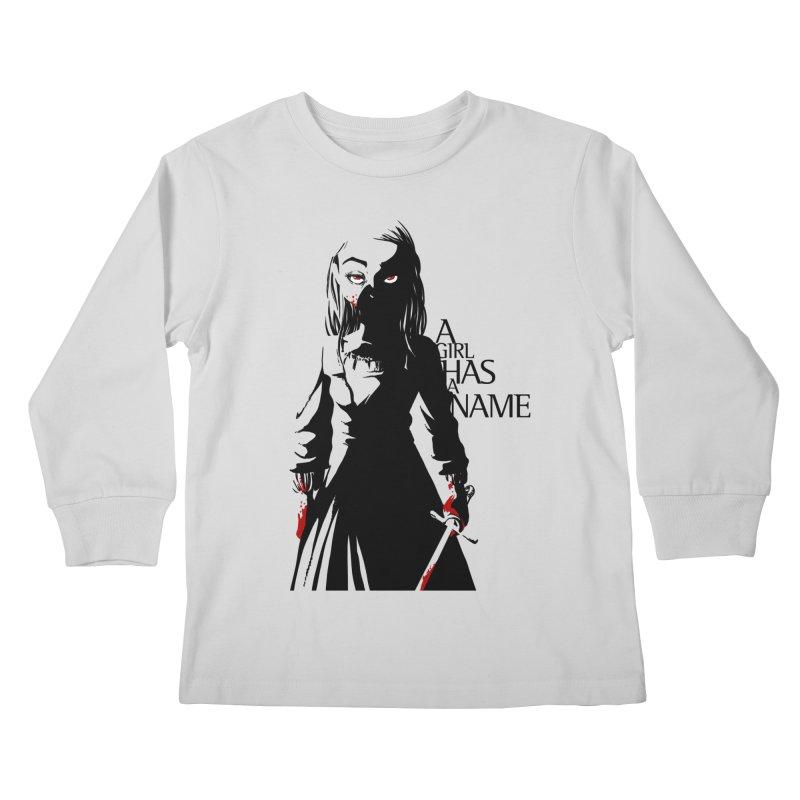 A Girl has a Name Kids Longsleeve T-Shirt by AlePresser's Artist Shop