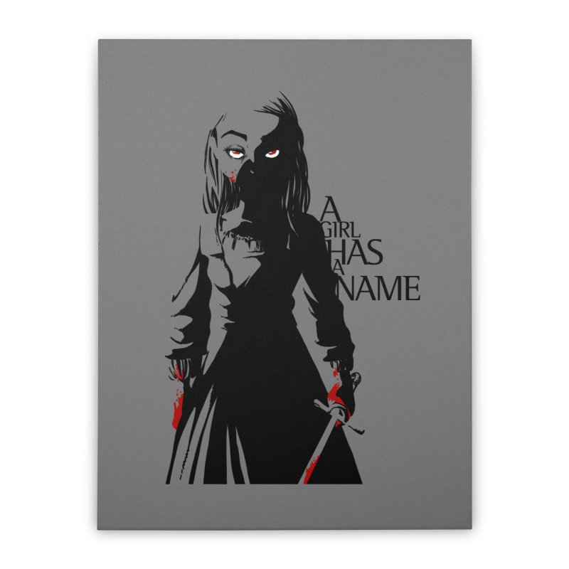 A Girl has a Name Home Stretched Canvas by AlePresser's Artist Shop