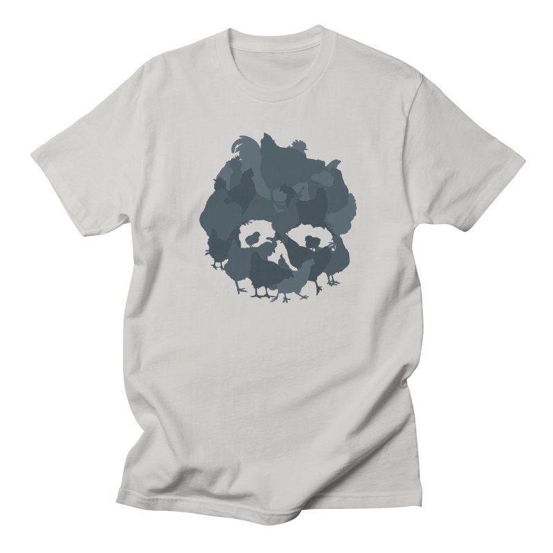 Calavera 4 in Men's T-shirt Stone by Poultry Poetry