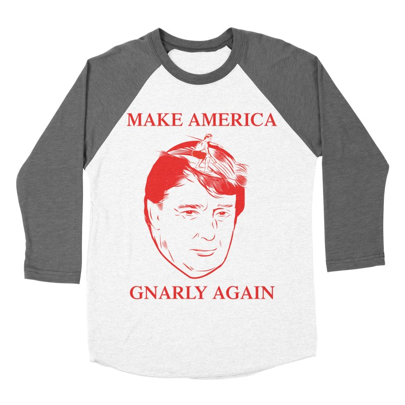 Gnarly Again Men's Baseball Triblend T-Shirt by alexanderkey's Artist Shop