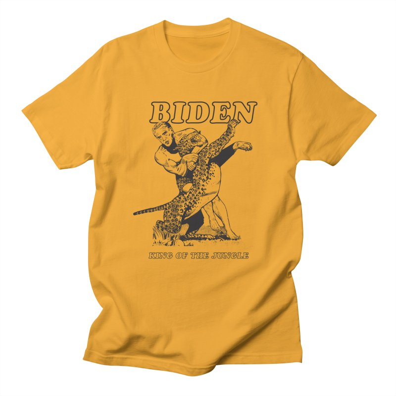 Biden: King of the Jungle Men's T-shirt by alexanderkey's Artist Shop