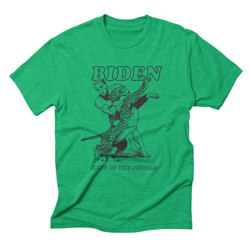 Biden: King of the Jungle Men's Triblend T-Shirt by alexanderkey's Artist Shop