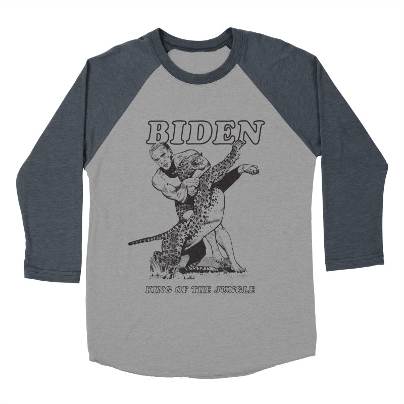Biden: King of the Jungle Men's Baseball Triblend T-Shirt by alexanderkey's Artist Shop