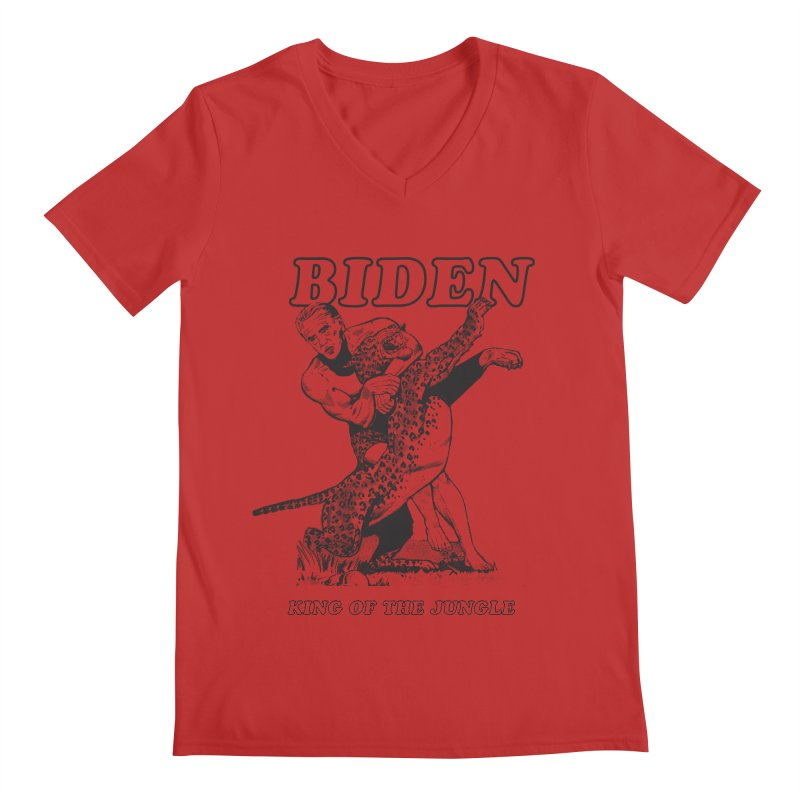 Biden: King of the Jungle Men's V-Neck by alexanderkey's Artist Shop