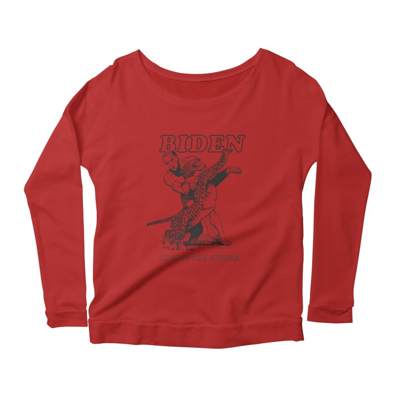 Biden: King of the Jungle Women's Longsleeve Scoopneck  by alexanderkey's Artist Shop
