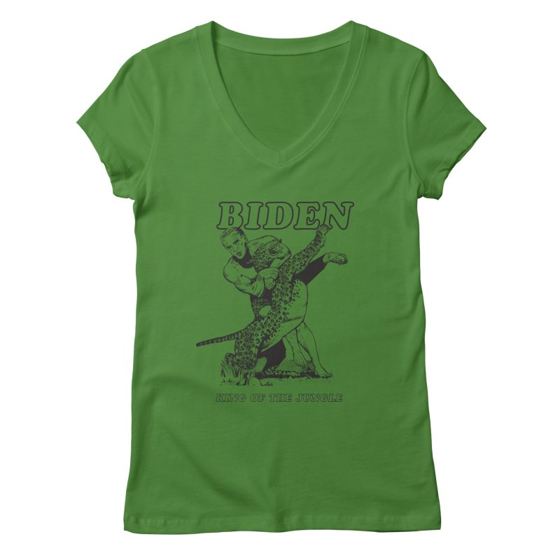 Biden: King of the Jungle Women's V-Neck by alexanderkey's Artist Shop