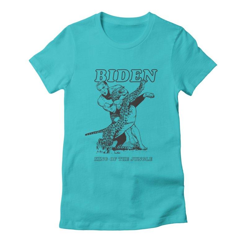 Biden: King of the Jungle Women's Fitted T-Shirt by alexanderkey's Artist Shop