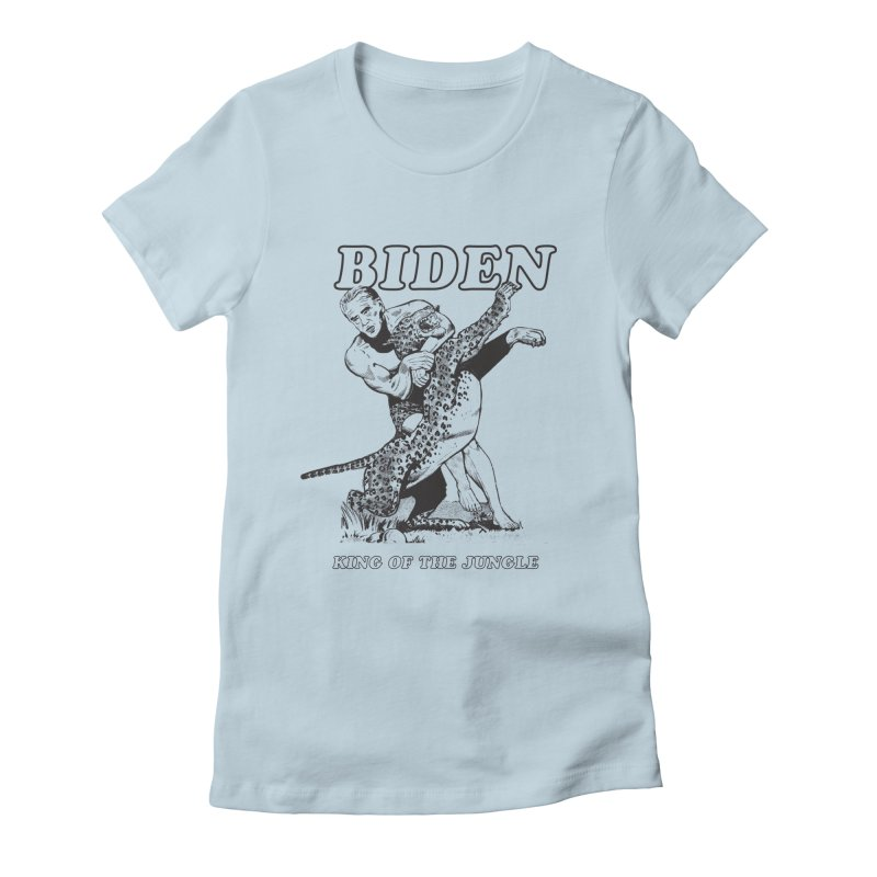 Biden: King of the Jungle Women's Fitted T-Shirt by alexanderkey's Artist Shop