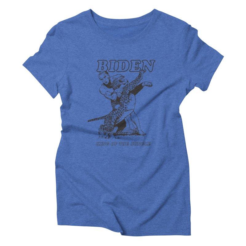 Biden: King of the Jungle Women's Triblend T-Shirt by alexanderkey's Artist Shop