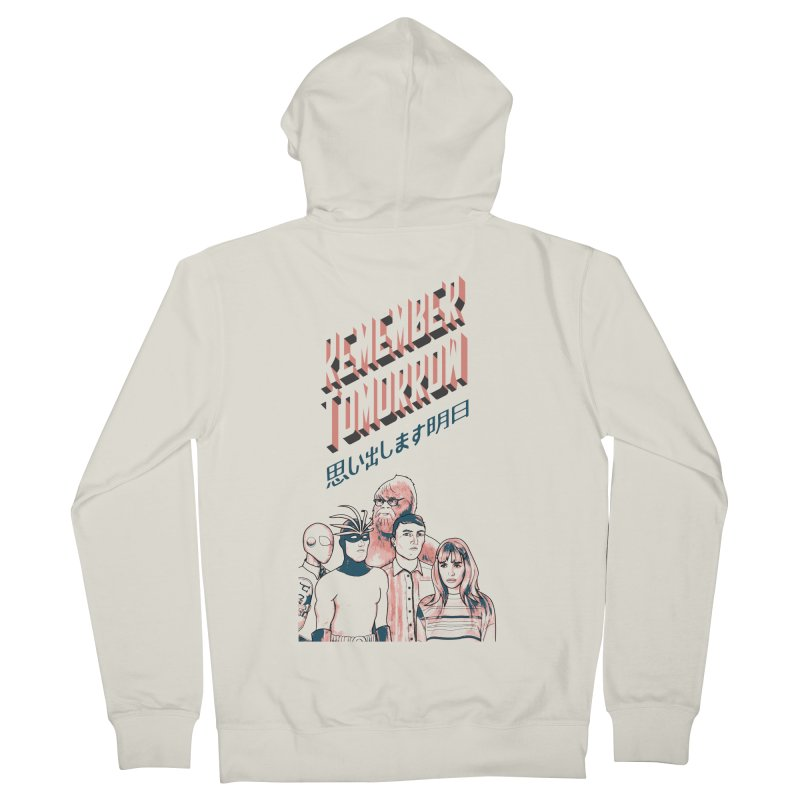 Remember Tomorrow Hello Men's French Terry Zip-Up Hoody by alexaustindesign's Artist Shop