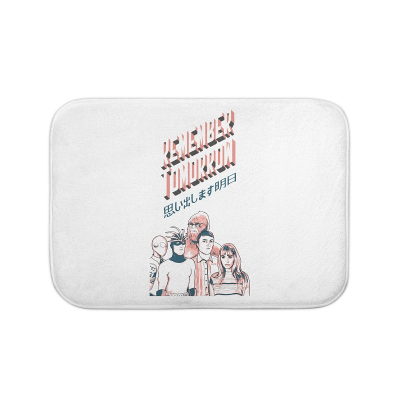 Remember Tomorrow Hello Home Bath Mat by alexaustindesign's Artist Shop
