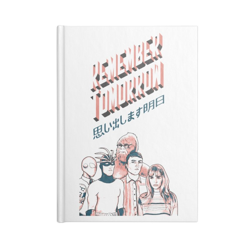 Remember Tomorrow Hello Accessories Lined Journal Notebook by alexaustindesign's Artist Shop