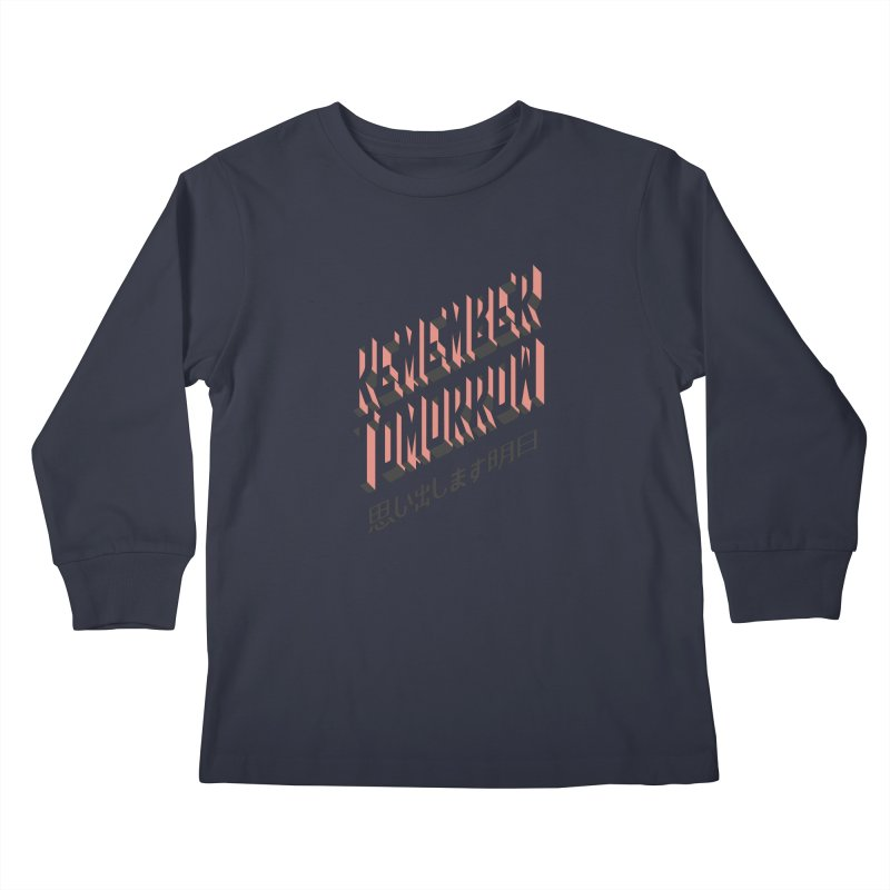 Remember Tomorrow Stories Kids Longsleeve T-Shirt by Alex Austin Design Shop