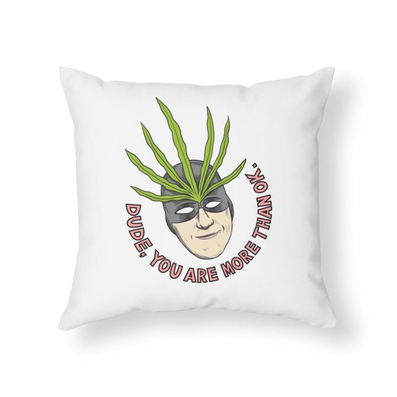 Mister Chron – Catch Phrase Home Throw Pillow by Alex Austin Design Shop