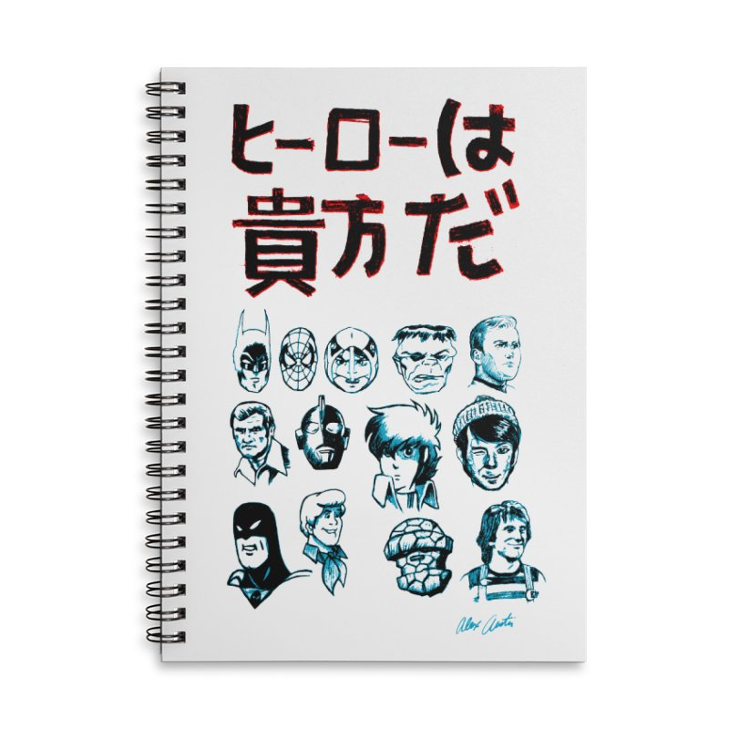 You Are A Hero To Me Accessories Notebook by Alex Austin Design Shop