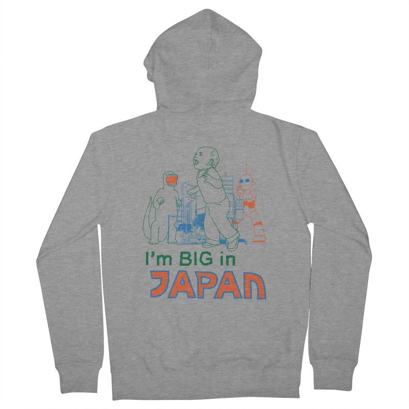 big in japan Men's French Terry Zip-Up Hoody by alexaustindesign's Artist Shop
