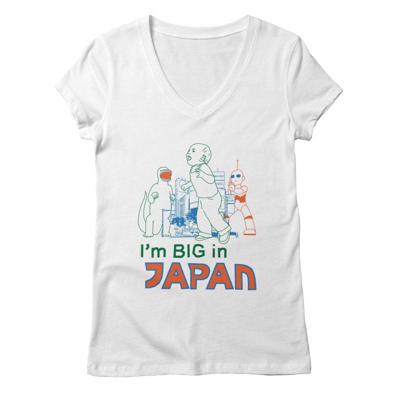big in japan Women's Regular V-Neck by alexaustindesign's Artist Shop
