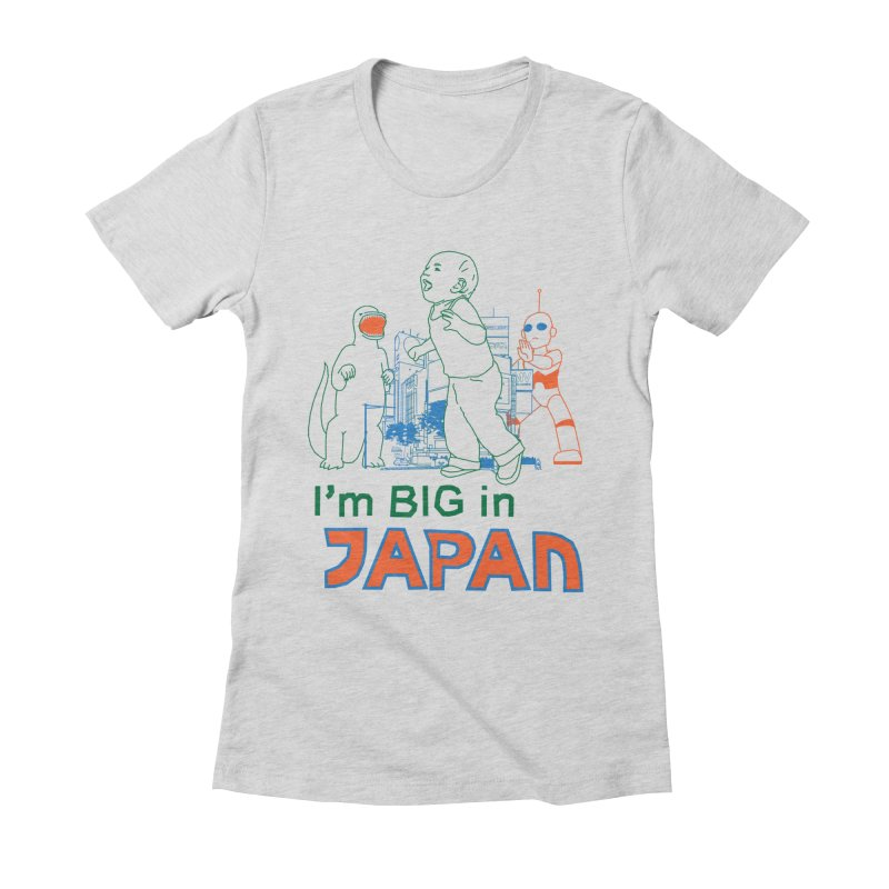 big in japan Women's Fitted T-Shirt by alexaustindesign's Artist Shop