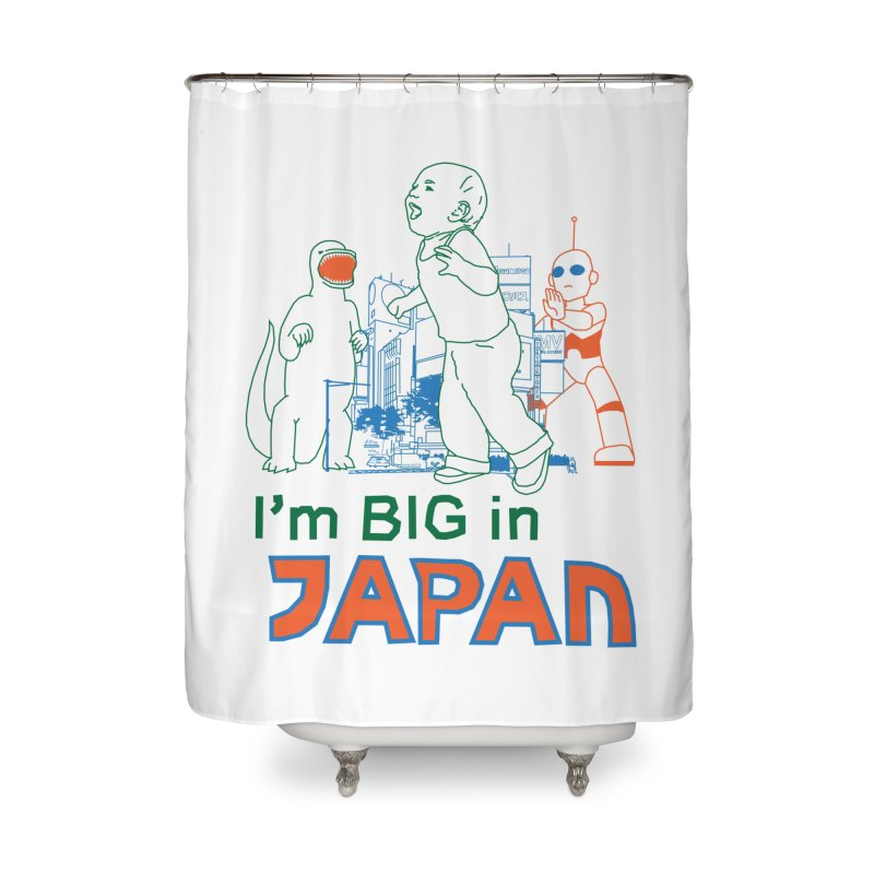 big in japan Home Shower Curtain by alexaustindesign's Artist Shop