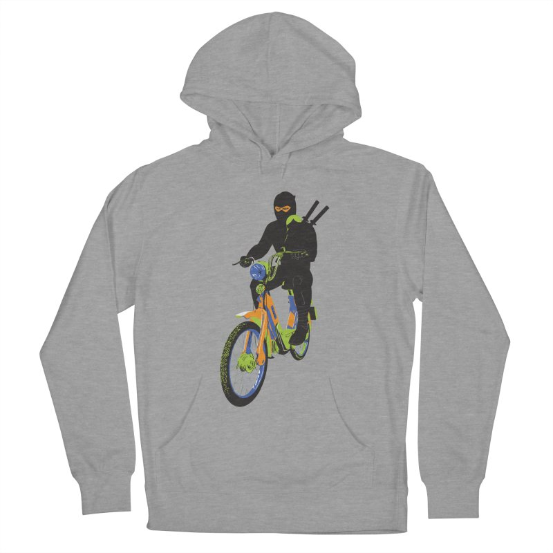 moped ninja Men's French Terry Pullover Hoody by alexaustindesign's Artist Shop