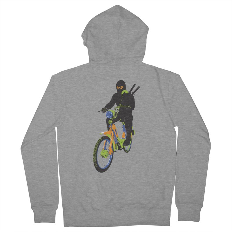 moped ninja Men's French Terry Zip-Up Hoody by alexaustindesign's Artist Shop