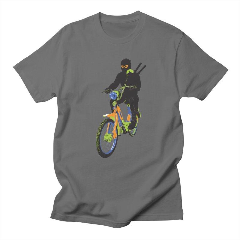 moped ninja Men's Regular T-Shirt by alexaustindesign's Artist Shop