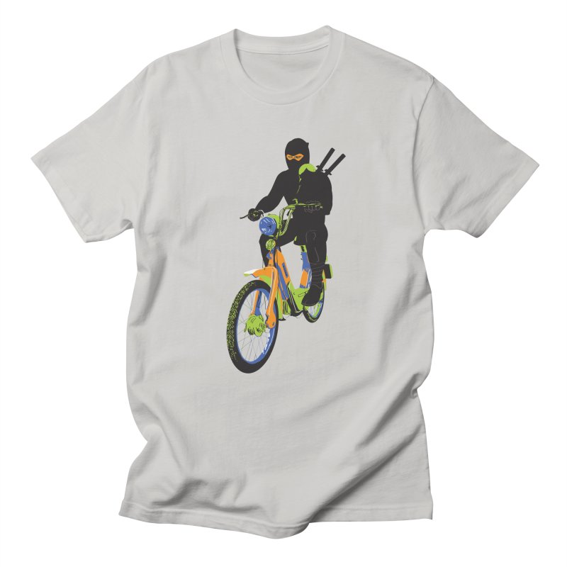 moped ninja Men's Regular T-Shirt by alexaustindesign's Artist Shop
