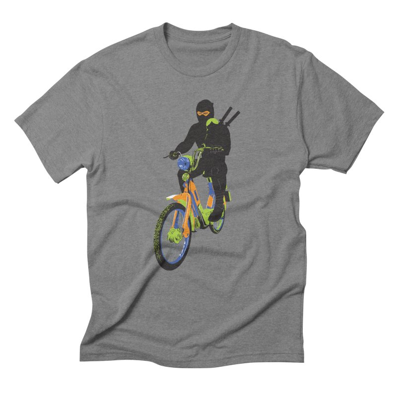 moped ninja Men's Triblend T-Shirt by alexaustindesign's Artist Shop