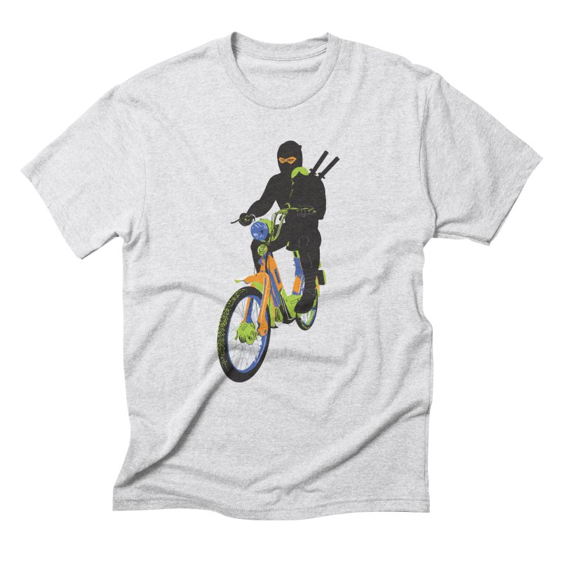 moped ninja Men's Triblend T-Shirt by alexaustindesign's Artist Shop