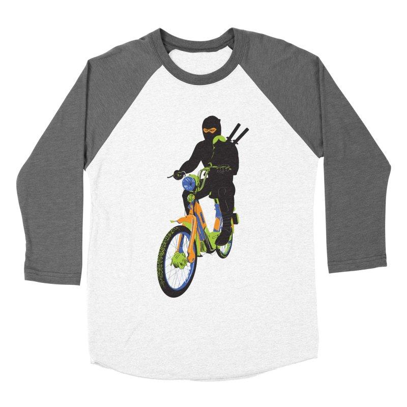 moped ninja Women's Baseball Triblend Longsleeve T-Shirt by alexaustindesign's Artist Shop