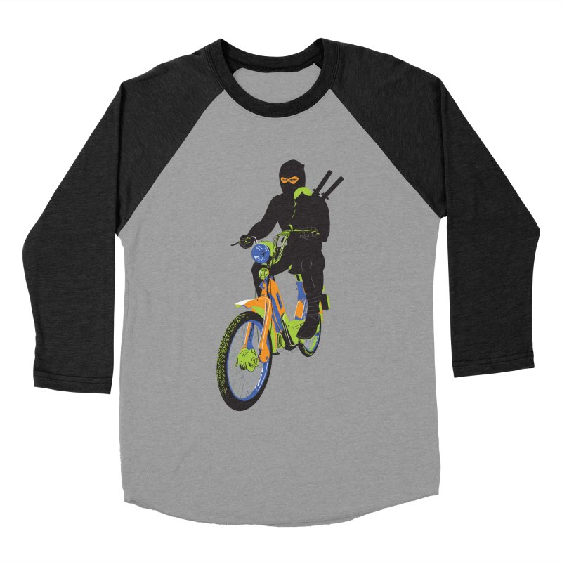 moped ninja Women's Baseball Triblend Longsleeve T-Shirt by alexaustindesign's Artist Shop