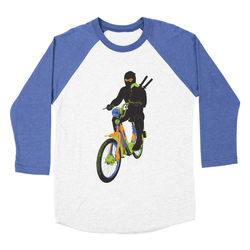 moped ninja Men's Baseball Triblend Longsleeve T-Shirt by alexaustindesign's Artist Shop