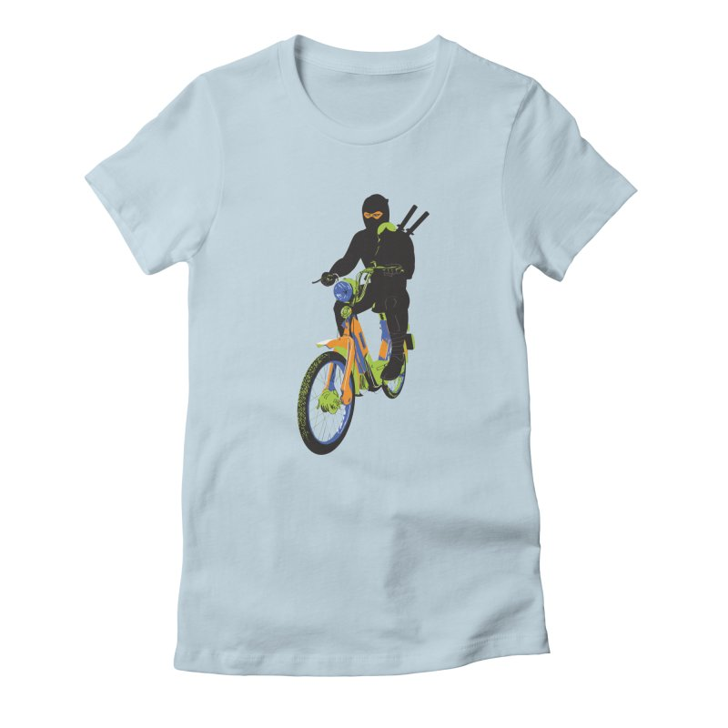 The Moped Ninja Women's T-Shirt by Alex Austin Design Shop