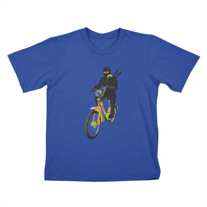 moped ninja Kids T-Shirt by alexaustindesign's Artist Shop