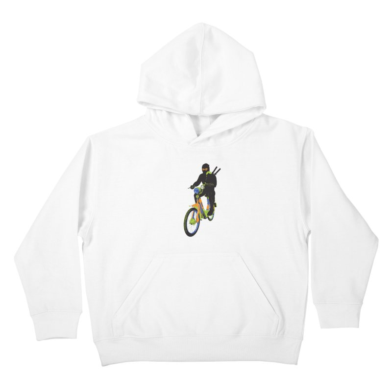moped ninja Kids Pullover Hoody by alexaustindesign's Artist Shop