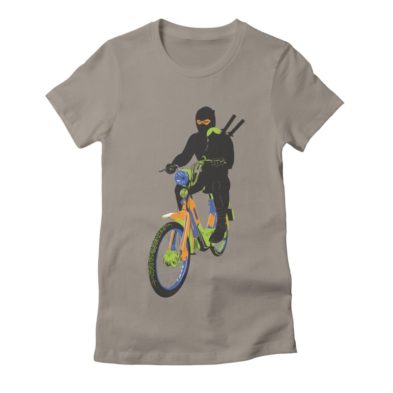moped ninja Women's Fitted T-Shirt by alexaustindesign's Artist Shop